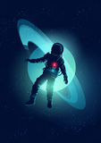 Astronaut Floating In Space Stock Photography