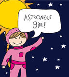 Astronaut girl Stock Images