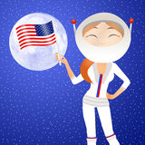 Astronaut girl Royalty Free Stock Photography