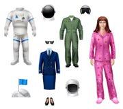 Astronaut Girl Pack Stock Photos
