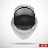 Astronaut helmet with reflection glass vector. Stock Images