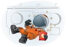 Astronaut in het ruimteschip Stock Afbeelding