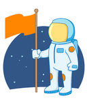 Astronaut holding flag Royalty Free Stock Photography