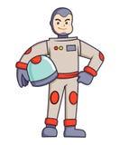 Astronaut Holding His Helmet Royalty Free Stock Photo