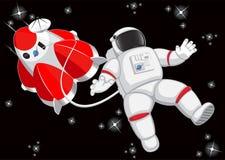 Astronaut i avstånd Royaltyfri Bild