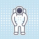 Astronaut icon in flat style with outline. Eps 10 file, easy to edit Stock Photo