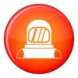 Astronaut icon, flat style Royalty Free Stock Photo