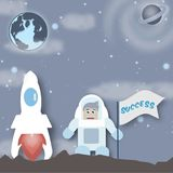 Astronaut im Kosmos Lizenzfreie Stockbilder