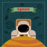 Astronaut im Platz Lizenzfreie Stockfotografie