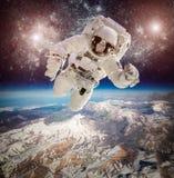 Astronaut im Weltraum Lizenzfreies Stockfoto