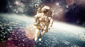 Astronaut im Weltraum Stockbild