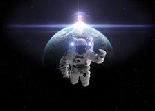 Astronaut im Weltraum Lizenzfreies Stockbild