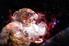Astronaut im Weltraum Elemente dieses Bildes geliefert von der NASA stockfotografie