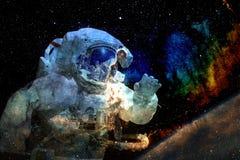Astronaut im Weltraum Elemente dieses Bildes geliefert von der NASA stockfoto