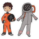 Astronaut. Image of a cartoon astronaut with his space suit Royalty Free Stock Photos