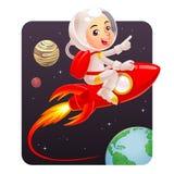 Astronaut Kid Arkivfoto