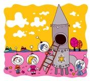 Astronaut kids Royalty Free Stock Image