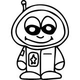 Astronaut  kids coloring page Stock Photo