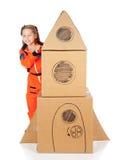 Astronaut: Leuke Astronaut Ready voor Ruimte royalty-vrije stock foto