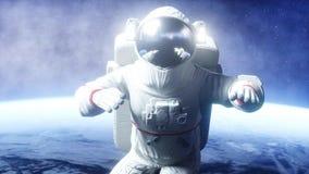 Astronaut levitation in space. 3d rendering. Astronaut levitation in space. 3d rendering Stock Photo