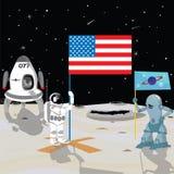 Astronaut  marecan flag Stock Images