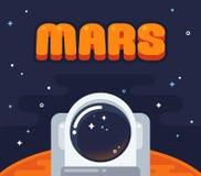 Astronaut on Mars Stock Image
