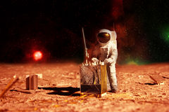 Astronaut on mars Royalty Free Stock Images