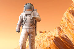 Astronaut on Mars Royalty Free Stock Image