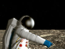 Astronaut On The Moon. An astronaut on the surface of the moon Stock Photos