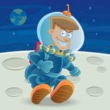 Astronaut at The Moon Stock Photos
