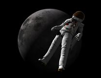 Astronaut and Moon Stock Images