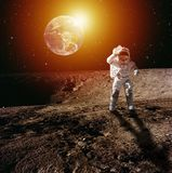 Astronaut on Moon royalty free stock photography