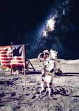 Astronaut on the moon Royalty Free Stock Images