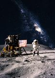 Astronaut on the moon Stock Photography