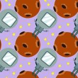 Astronaut on moon seamless background design Stock Image