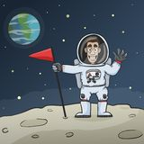 Astronaut On Moon Stock Images