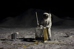 Astronaut on moon Stock Photography