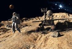 Astronaut and moonwalker Stock Image