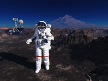 Astronaut and moonwalker Stock Photos