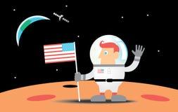 Astronaut op de Maan vector illustratie