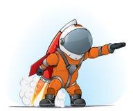 Astronaut op de raket Stock Afbeeldingen