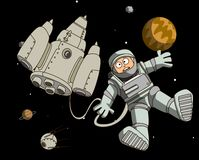 Astronaut in outer space Stock Images