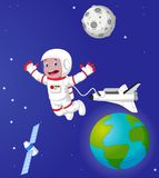 The astronaut in outer space Stock Photos