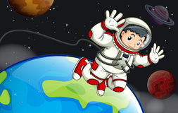 An astronaut in the outerspace Stock Photography