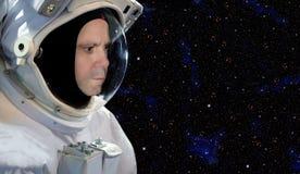 Astronaut på utrymmebeskickning Royaltyfri Bild