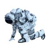 Astronaut på vit Blandat massmedia Arkivbilder