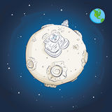 Astronaut på månen Royaltyfria Bilder