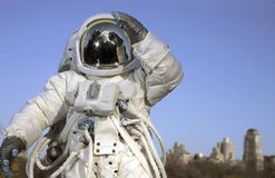 Astronaut in park Stock Image
