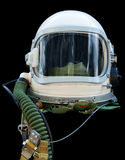 Astronaut/pilot helmet. With tubes isolated on black. Clipping path included Royalty Free Stock Photos