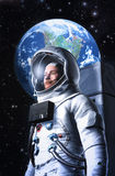 Astronaut and planet Earth Royalty Free Stock Image